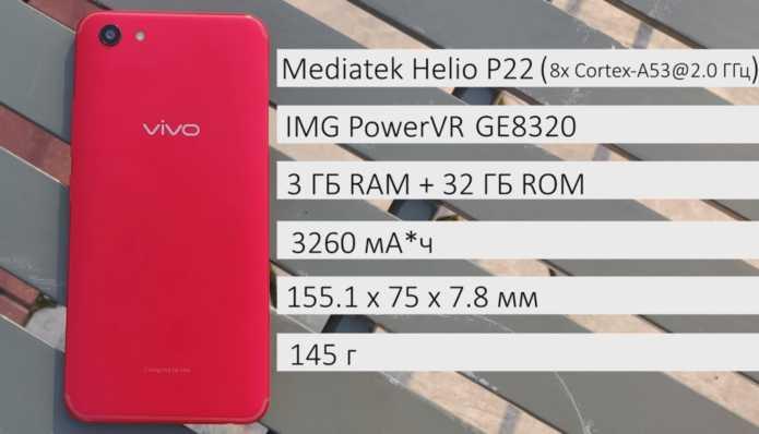 Vivo y81 параметры смартфона